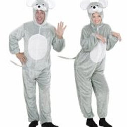 """FUNNY MOUSE"""" (hooded jumpsuit with mask) 9268A W"""