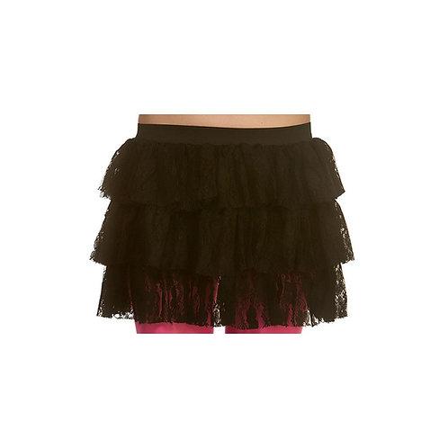 80's Lacy Ra-Ra Skirt M - BLACK. TS-7463-BK Wicked