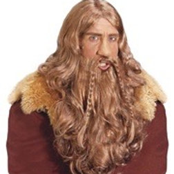"VIKING WIG WITH BEARD & MOUSTACHE"" in box. V6335 W"