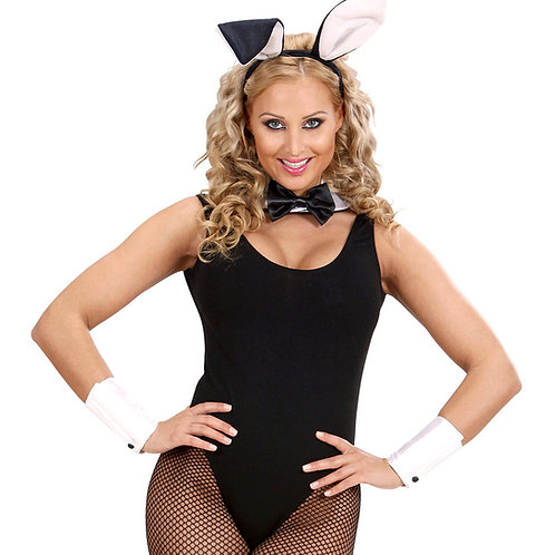 """""""BUNNY SET"""" (ears, collar with bowtie, tail, cuffs). 29137 Folat"""