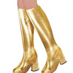 """Pair of """"GOLD 60s GO GO BOOT TOPS"""" W 65789"""