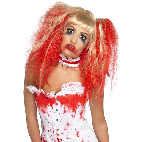 Blood Drip Wig Blonde and Red SKU: 35768