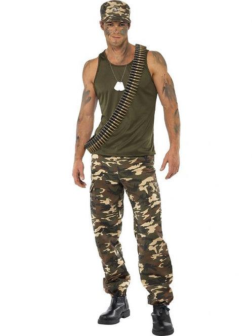 Khaki Camo Deluxe Costume, Male SKU 35462