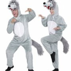 """FUNNY WOLF"""" (hooded jumpsuit with mask) 9964A W"""