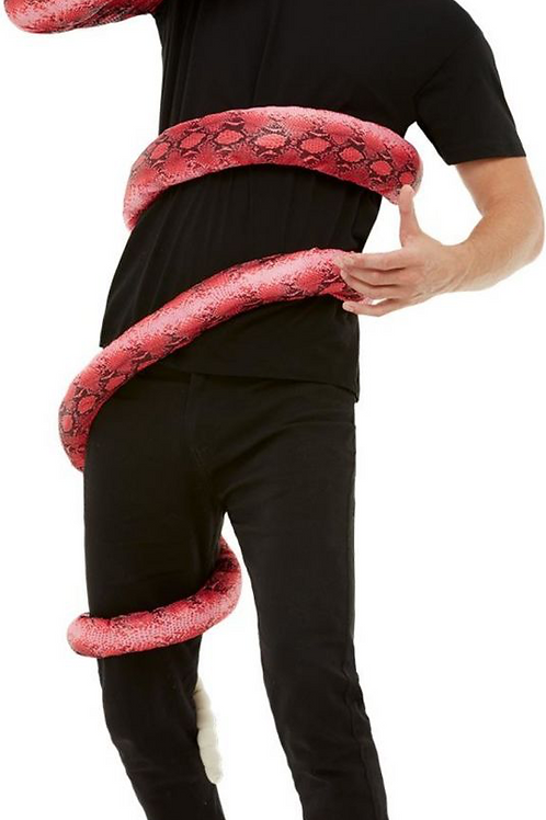 Anaconda Serpent Costume, Red, with Body Wrap-Around & Snake Head.... 50721 S