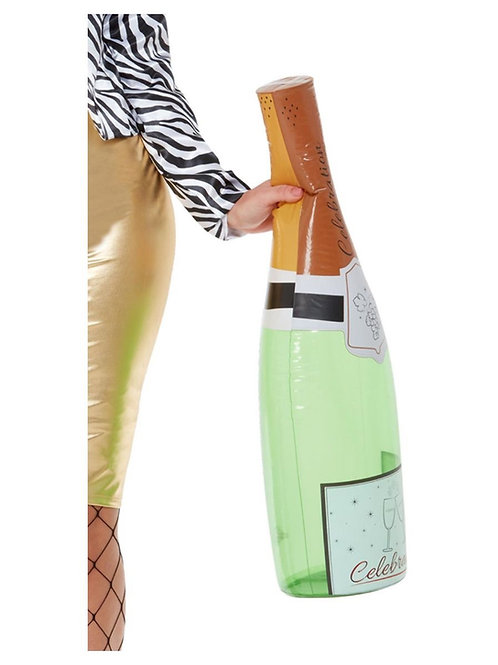 Inflatable Champagne Bottle, Green. 72051 Smiffys