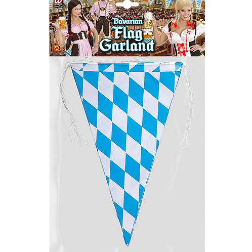 """BAVARIA FLAG GARLAND""10 m (flag size 20 x 30 cm) - flame retardant (05325)"