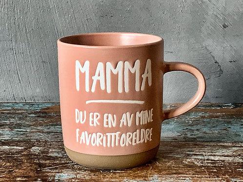 """Krus H:9,5cm """"Mamma"""" rosa"""