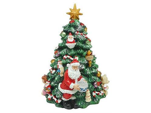 Juletre grønt m/nisse/musikk 18cm Roterende m/julemusikk Varenr: 110234