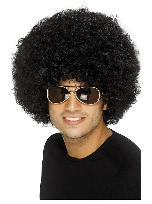 70s Funky Afro Wig, Black. 42017 S