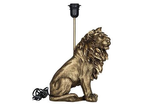 Lampe Løve Poly Mörkguld 25x32/42cm 102000