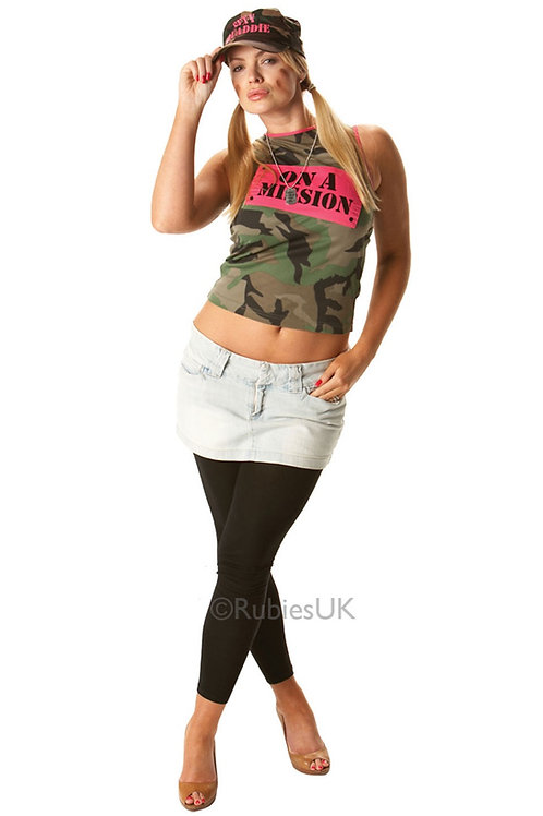 ARMY CAMOUFLAGE VEST – WOMENS. 889382 RUBIES