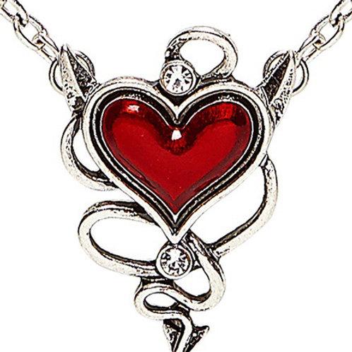 DEVILISH RED HEART GEM NECKLACE. 46756 Widmann