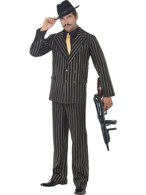 Gold Pinstripe Gangster Costume SKU 22414