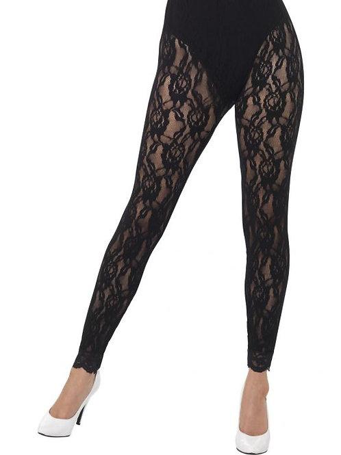 80s Lace Leggings, Black. 44512 S