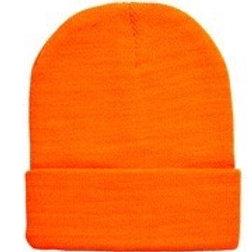 Neon Orange Beanie Hat. 01048 W