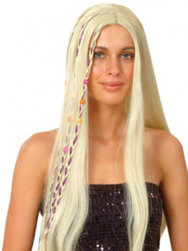 Blonde Hippie Wig. EW-8026 Wicked