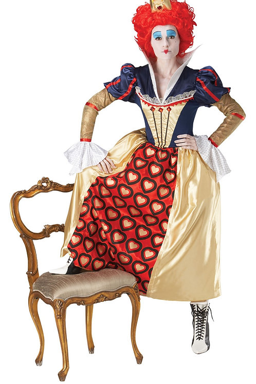 QUEEN OF HEARTS DELUXE COSTUME – WOMENS. 889954 RUBIES