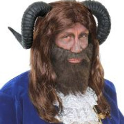 """""""BEAST WIG WITH HORNS"""" W 09718"""