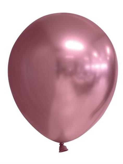 "BALLOONS 12"" MIRROR PINK 6-P (6) 64428 JOKER"