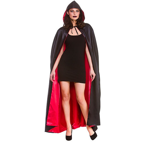 Super Deluxe Satin Hooded Cape. AC-9407 Wicked