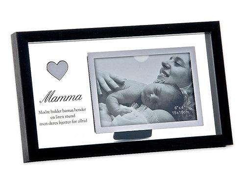 Blits Ramme Mamma, SVART/KLAR str: 30x18(Foto str:
