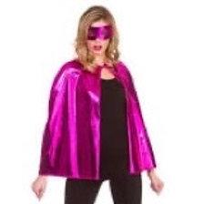 metallic Superhero Cape & Mask. AC-9404 Wicked