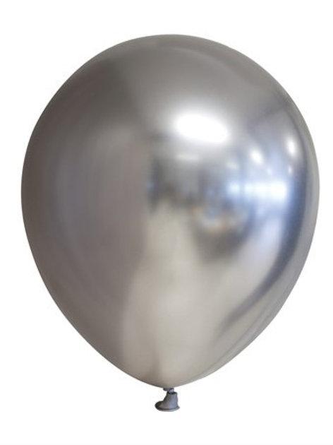 """BALLOONS 12"""" MIRROR SILVER 6-P (6) 64426 JOKER"""