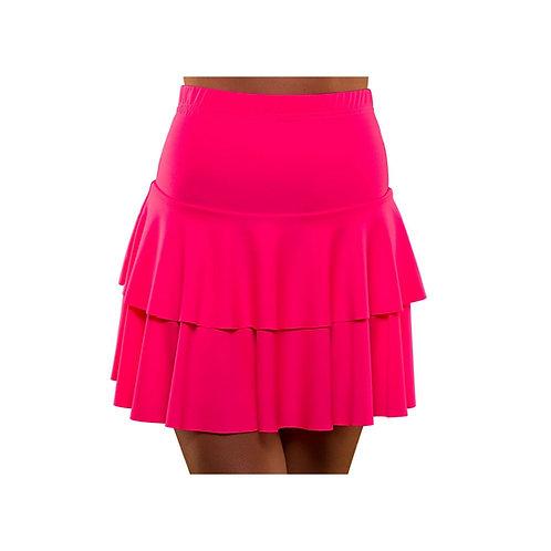 80's Neon Ra Ra Skirt - HOT PINK EF-2257-P W