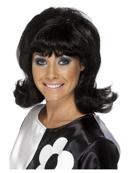 60s Flick-Up Wig, Black. 42013 S