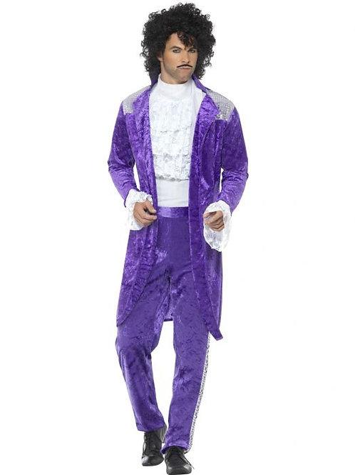 80s Purple Musician Costume SKU 48004