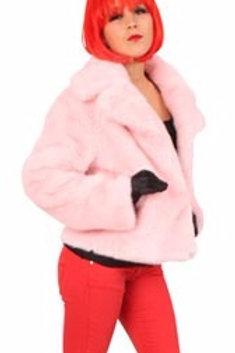 50 talls rosa pelsjakke