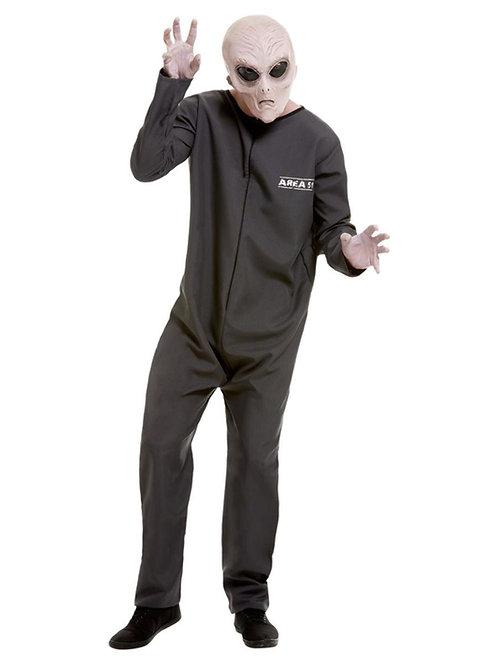 Area 51 Hazmat Suit Costume, Grey. 51063 S