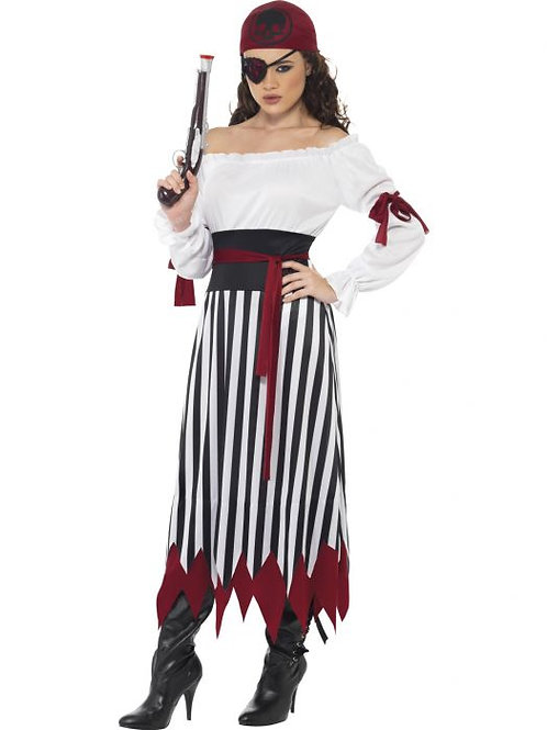 Pirate Lady Costume, Black & White SKU 20803