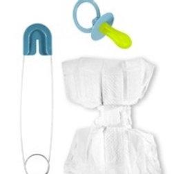 "BLUE BABY SET"" (diaper, pin, pacifier). 82521 W"