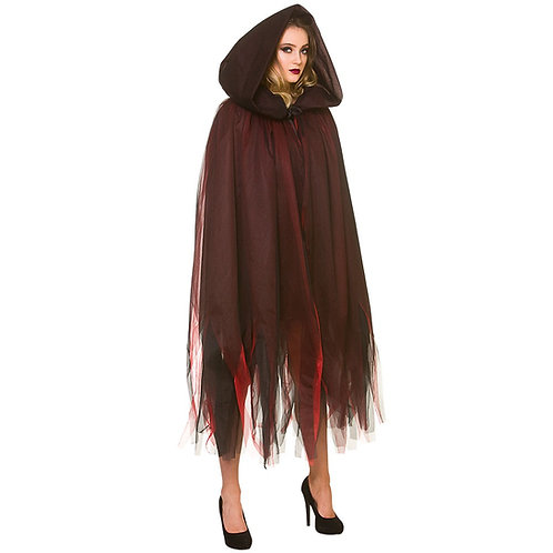 Adult Deluxe Layered Hooded Cape. HF-5134 Wicked