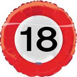 17In/43cm Traffic Sign 18 F 28518