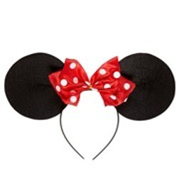 """MOUSE EARS HEADBAND WITH DOTTED BOW"". 01120 W"