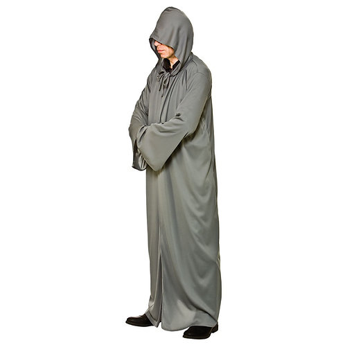 Hooded Robe - GREY. EM-3235-G Wicked