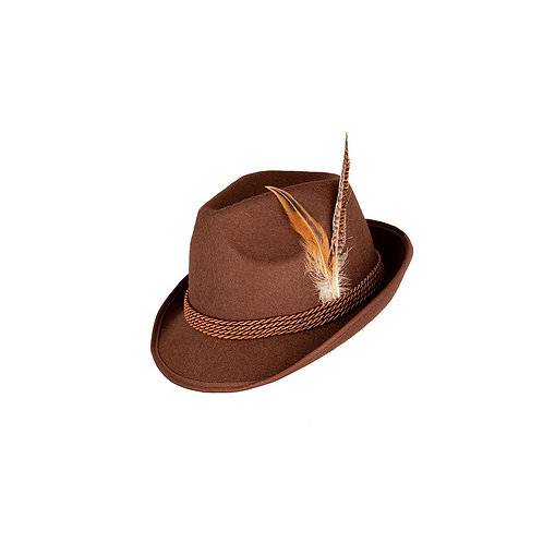 Deluxe Bavarian Oktoberfest Hat - Brown. AC-9785 Wicked