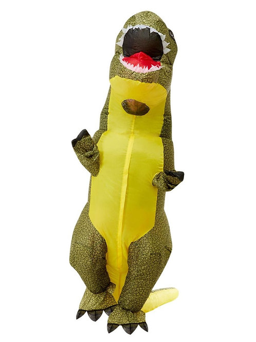 Inflatable T-Rex Costume, Green. 62011 Smiffys