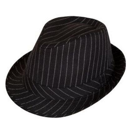 Hat - Pinstripe Black AC-9113 W
