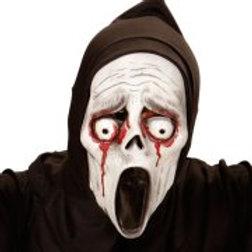 BLEEDING EYES SCREAMING GHOST HOODED MASK... (00371)