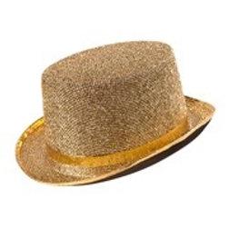 "GOLD LUREX TOP HAT"" felt"
