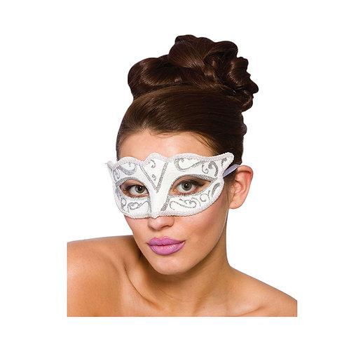 Verona Eyemask - White & Silver MK-9810-WS