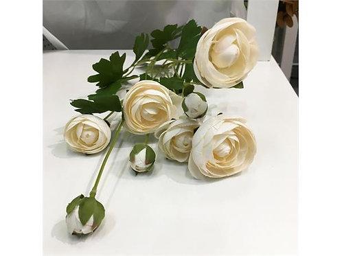 Blomst Rose 5Roser 3Knopper Hvit 87Cm