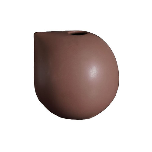 Nib Vase Small, Maroon