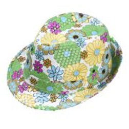 """FLOWER SEQUINED FEDORA"" W 0080T"
