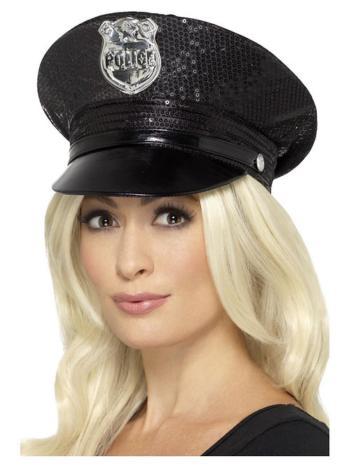 Fever Sequin Police Hat. 46988 S
