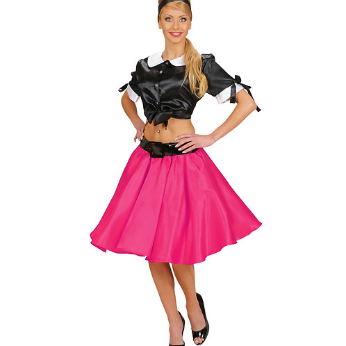 """""""PINK SATIN SKIRT WITH SEWN-IN PETTICOAT"""""""